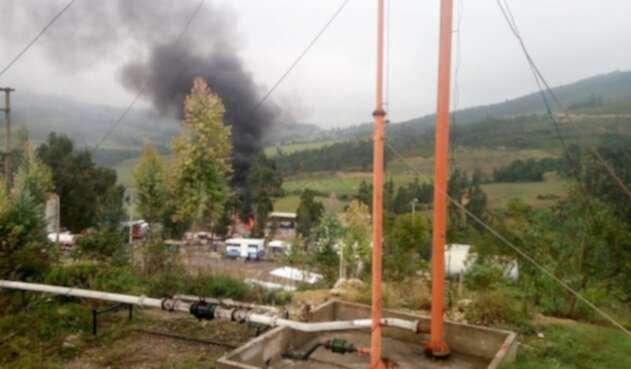 Un carrotanque explotó en petrolera de Corrales (Boyacá)