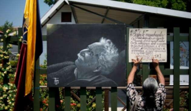 La fachada de la casa de Gabriel García Márquez en Aracataca (Magdalena)