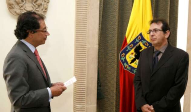 Gustavo Petro y Jorge Rojas, congresista y candidato a la Alcaldía de Bogotá
