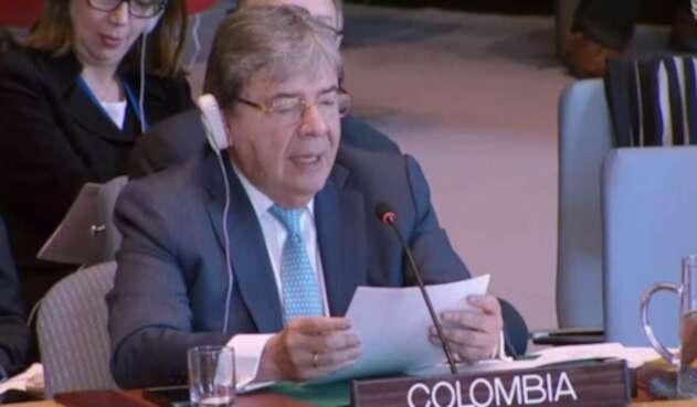 Carlos Holmes Trujillo en la ONU.