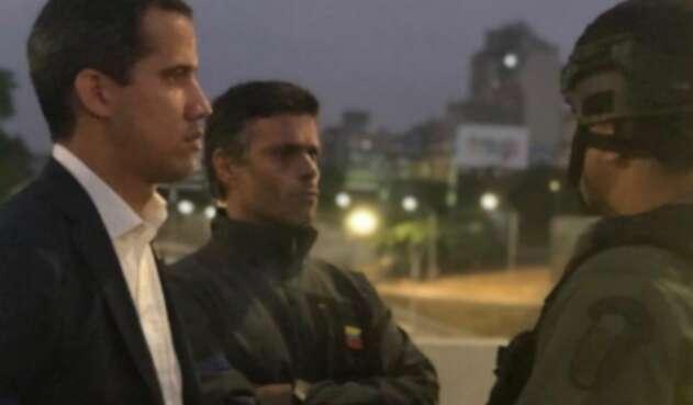 Guaidó y López
