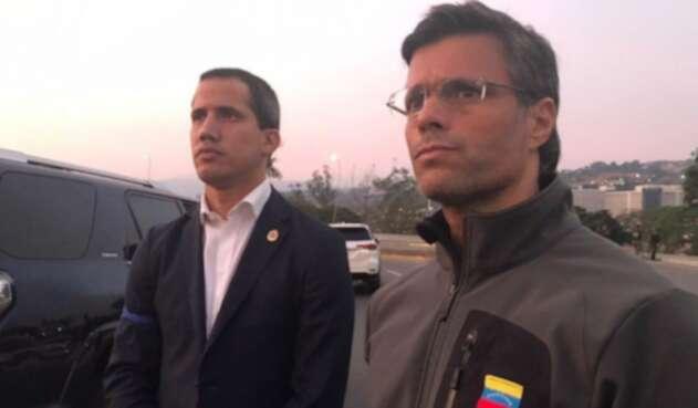 Leopoldo López y Juan Guaidó