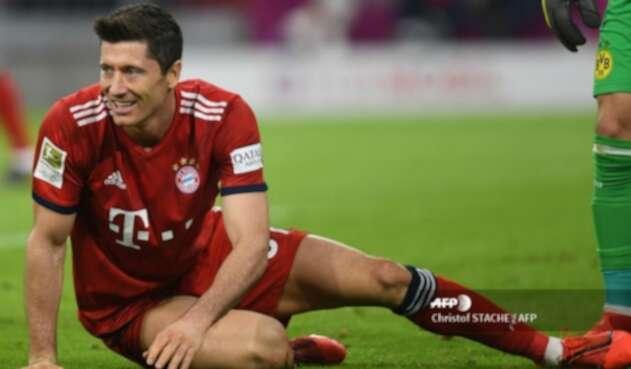 Robert Lewandowski con el Bayern Munich