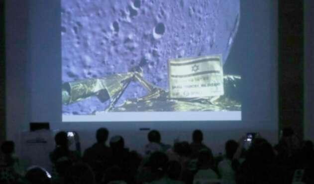 Sonda lunar israelí.