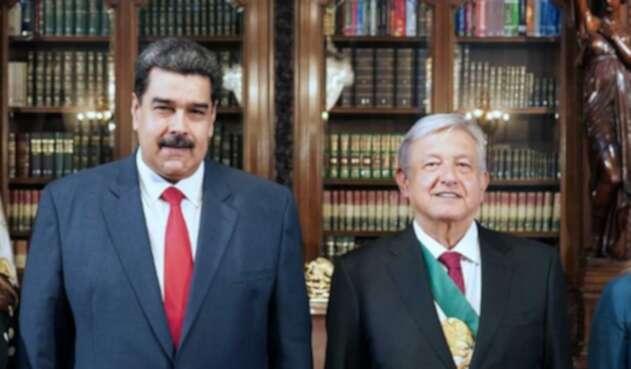 Nicolás Maduro y Andrés Manuel López Obrador, presidentes de México y Venezuela.