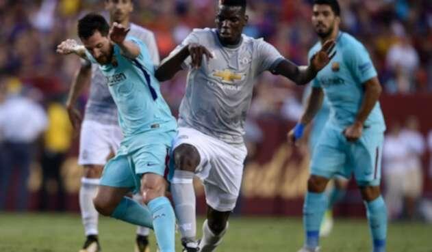 Messi y Pogba durante un juego disputado el 26 de julio de 2017 en Maryland