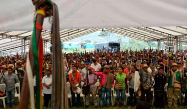 Comunidades indígenas concentradas en el departamento del Cauca