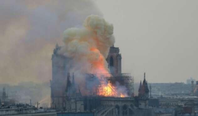 Incendio en Catedral Notre Dame