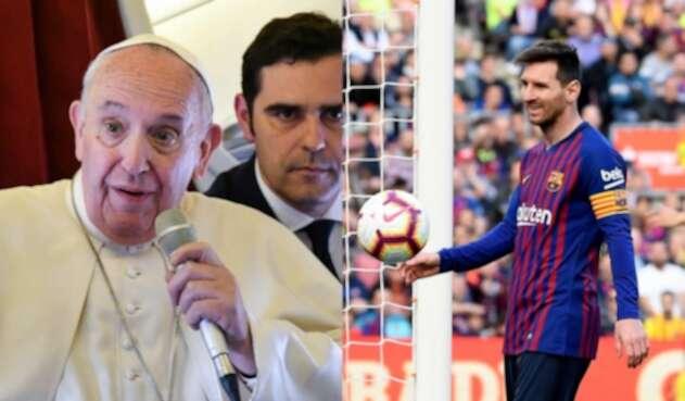 Papa Francisco y Lionel Messi