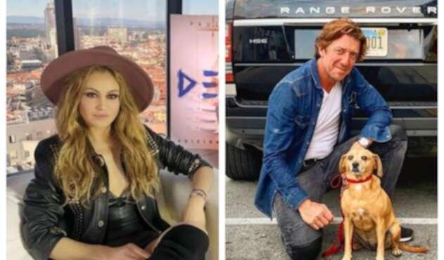 """Paulina Rubio y su ex esposo Nicolás Vallejo-Nagera, más conocido como """"Colate""""."""