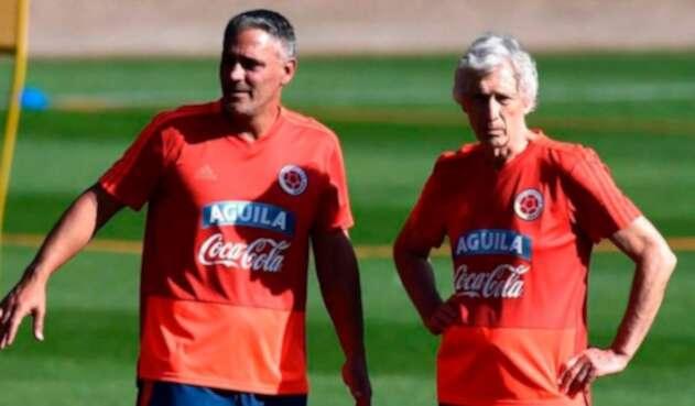 Patricio Camps y José Pékerman en la Selección Colombia
