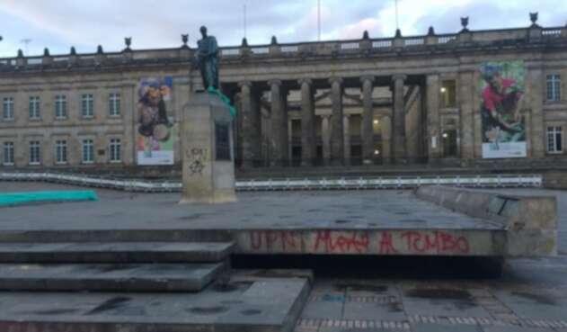 La Plaza de Bolívar, en Bogotá, luego de las manifestaciones
