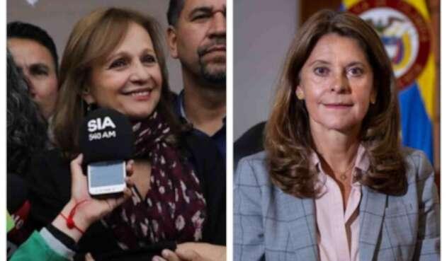 Ángela María Robledo y Marta Lucía Ramírez