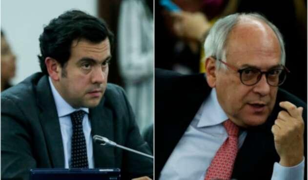 Rodrigo Lara y José Obdulio Gaviria, congresistas