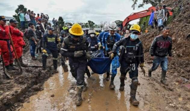 Las labores adelantadas en Rosas (Cauca) tras el deslizamiento