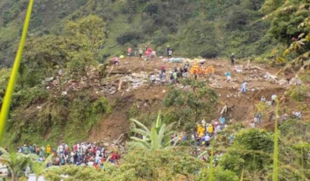 Derrumbe en Rosas, Cauca