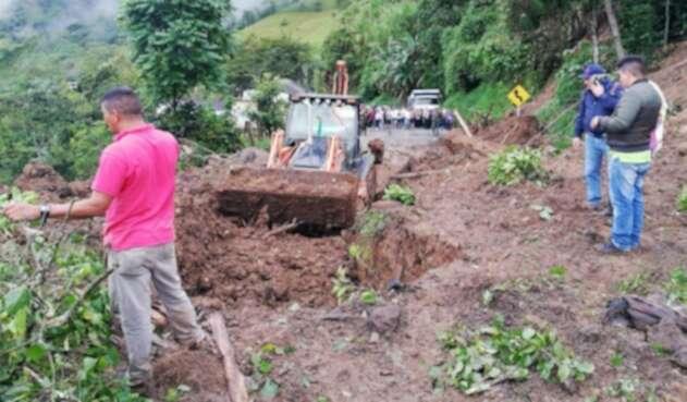 Deslizamiento en Rosas, Cauca