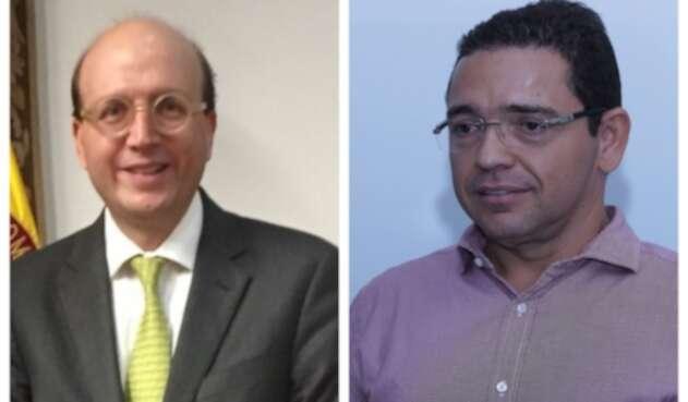 Andrés Rugeles, secretario de Transparencia y el alcalde Rafael Martínez