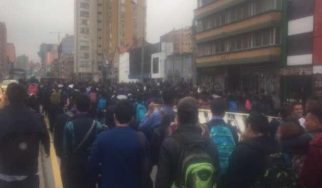 Protestas de estudiantes del SENA