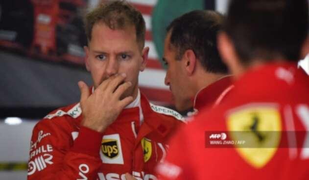 Sebastian Vettel en los entrenamientos del Gran Premio de China