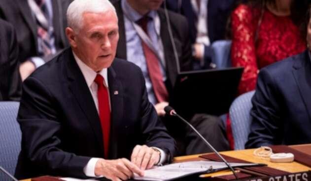 Mike Pence en Consejo de Seguridad de la ONU