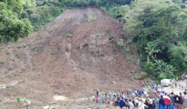 Deslizamiento en Rosas (Cauca)