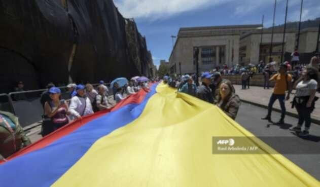 Marchas día del trabajo en Bogotá
