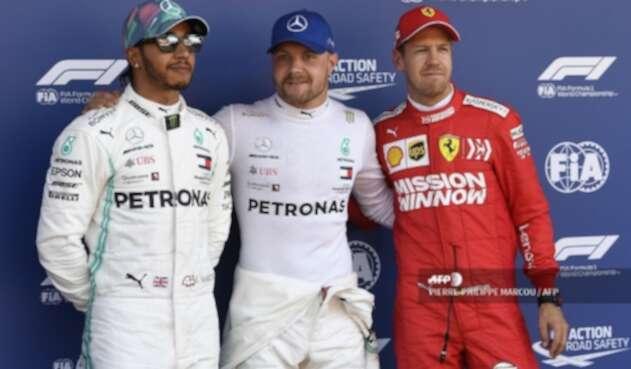 Bottas, Hamilton y Vettel en el Gran Premio de España de Fórmula 1 2019