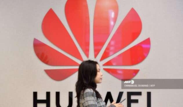 Una tienda Huawei