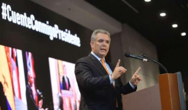 Presidente Iván Duque, durante encuentro con 500 empresarios del país
