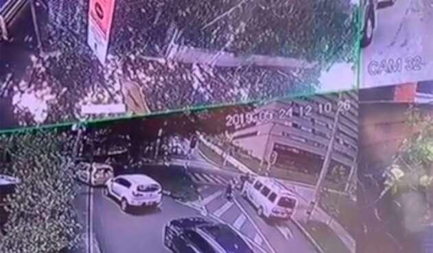 Imagen del aparatoso accidente en Medellín