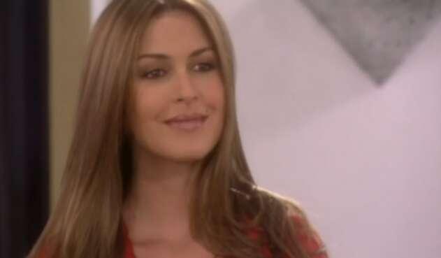 La famosa modelo estuvo presente en algunos capítulos de la telenovela.