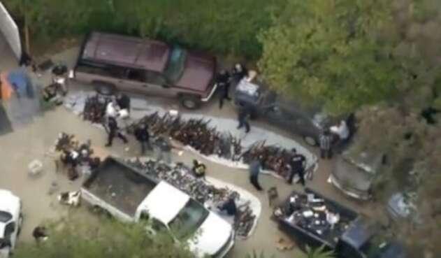 Más de 1.000 armas incautadas en Los Ángeles
