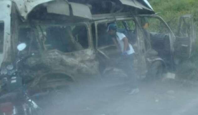 Atentado en El Catatumbo.