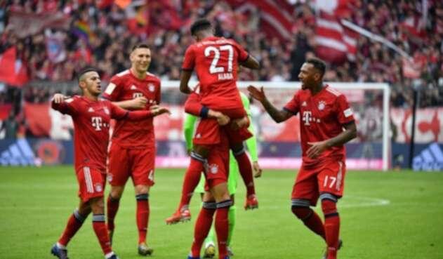 Bayern Múnich celebrando su triunfo ante Hannover