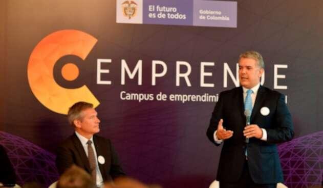 C Emprende, el programa presentado en Bogotá por el presidente Iván Duque
