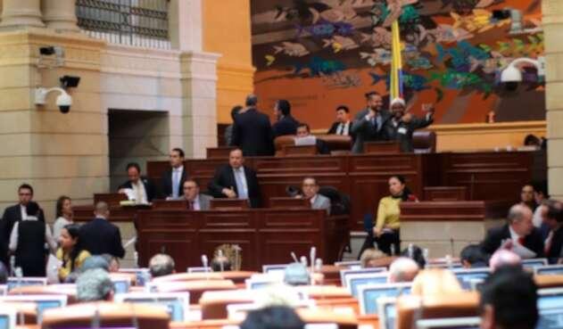 La Cámara de Representantes, durante el debate del Plan de Desarrollo
