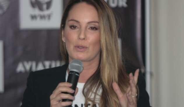 Claudia Bahamón, presentadora y modelo colombiana