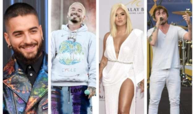 Maluma, J Balvin, Karol G y Juanes