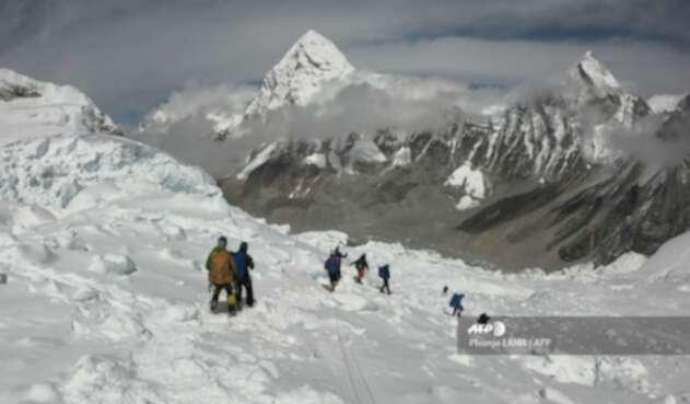 Montañista en el Everest
