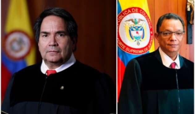 Eyder Patiño y Álvaro García, magistrados de la Corte Suprema