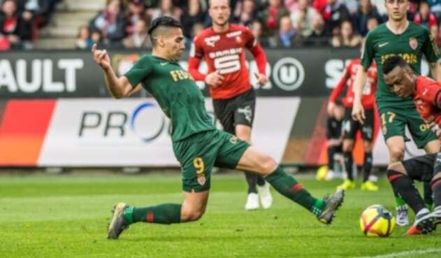 Falcao, en acción ante Rennes