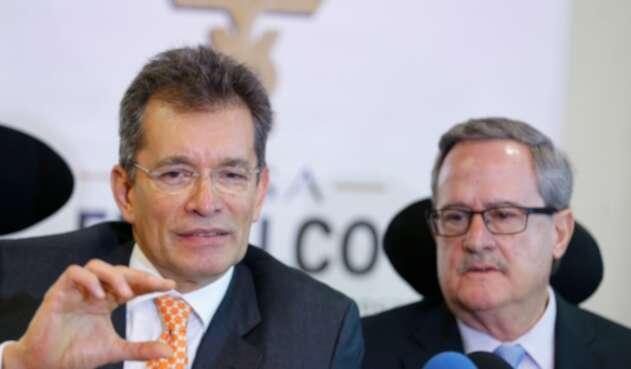 Javier Díaz, presidente de Analdex, junto a Eduardo Bisbal, vicepresidente de Fenalco