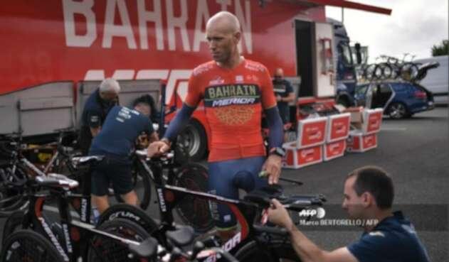 Kristijan Koren, ciclista del Bahrein Merida