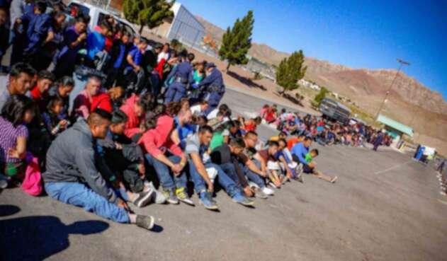 Inmigrantes en la frontera sur de Estados Unidos.