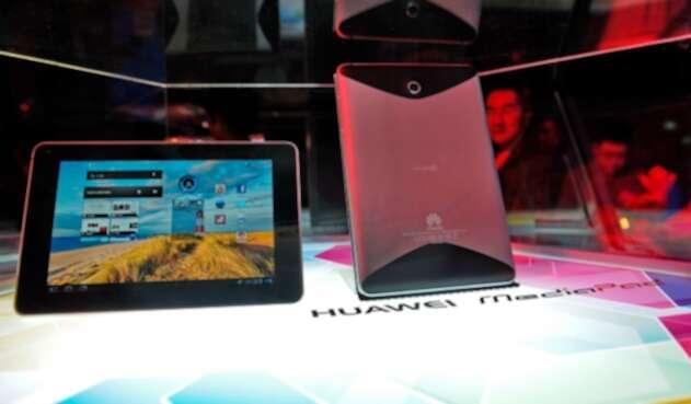 Dispositivos Huawei expuestos en Singapur el 20 de junio de 2011