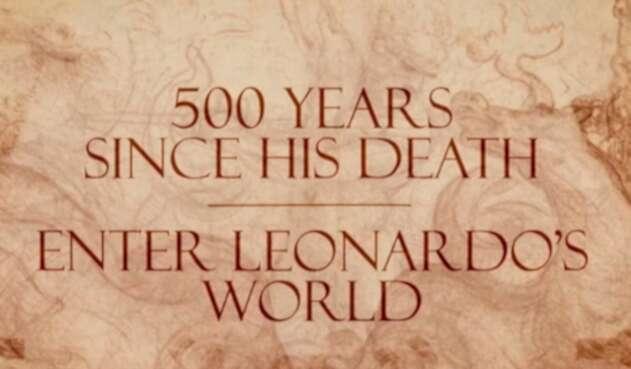 Foto conmemorativa de Leonardo da Vinci hecha por el Royal Collection Trust
