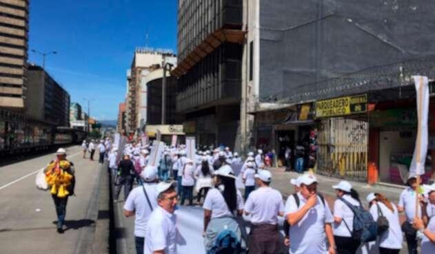 Marchas en Bogotá en el marco del Día del Trabajo