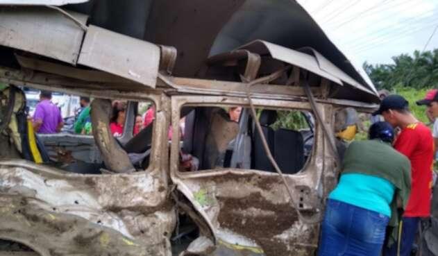 Vehículo atacado en el Catatumbo