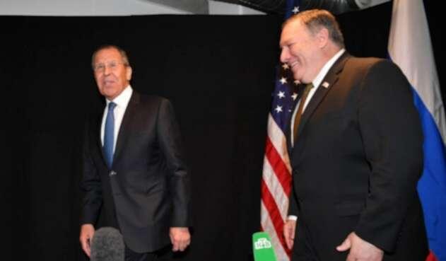 Serguéi Lavrov y Mike Pompeo